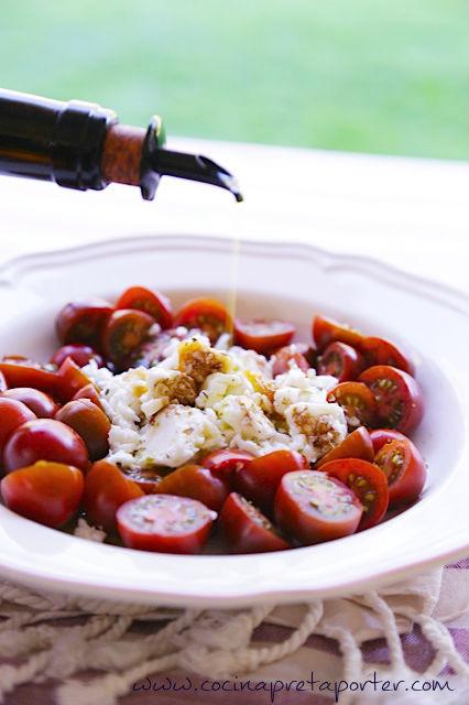 Ensalada de tomate kumato y Burrata portada