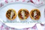 Hojaldre de sardinas con pesto y tomates cherry