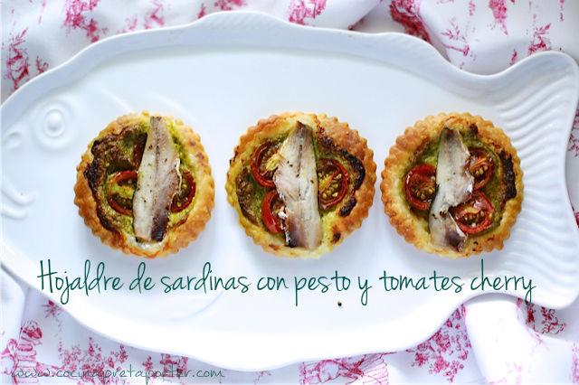 Hojaldre de sardinas con pesto y tomates cherry-2