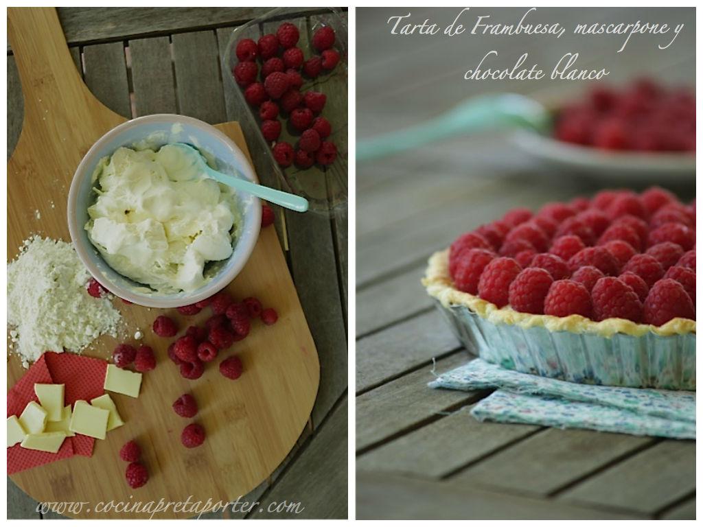 Tarta de Frambuesas, mascarpone y chocolate blanco