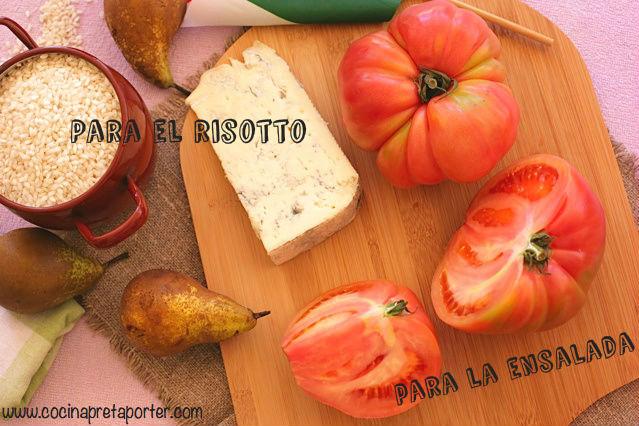 risotto de gorgonzola y pera 2
