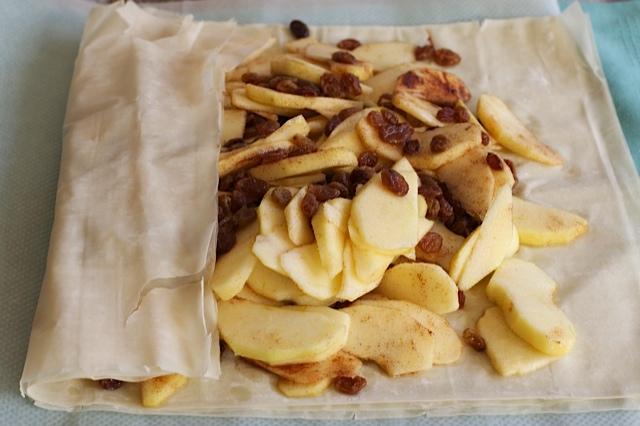 como hacer strudel de manzana con pasta hojaldre